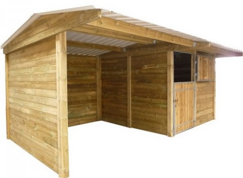 pack 1 box et 1 abri le sp cialiste des box et abris pour chevaux. Black Bedroom Furniture Sets. Home Design Ideas