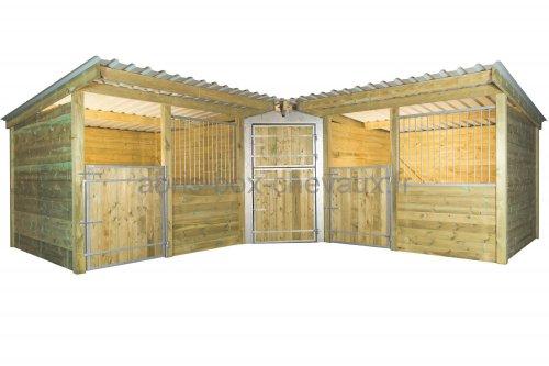 Box d 39 angle le sp cialiste des box et abris pour chevaux - Porte de box pour chevaux a vendre ...